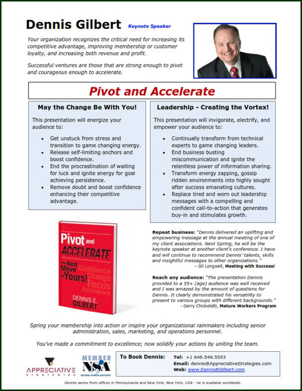 Pivot Accelerate One Sheet