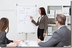 Team leader giving a presentation