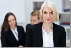 Attractive female business executive